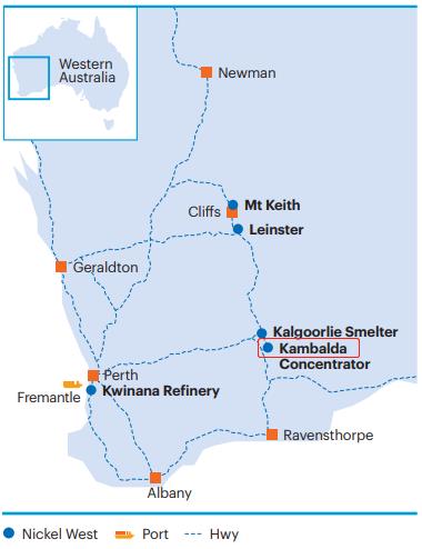 Kambalda镍矿项目重新启动 预计5年生产63000吨精矿