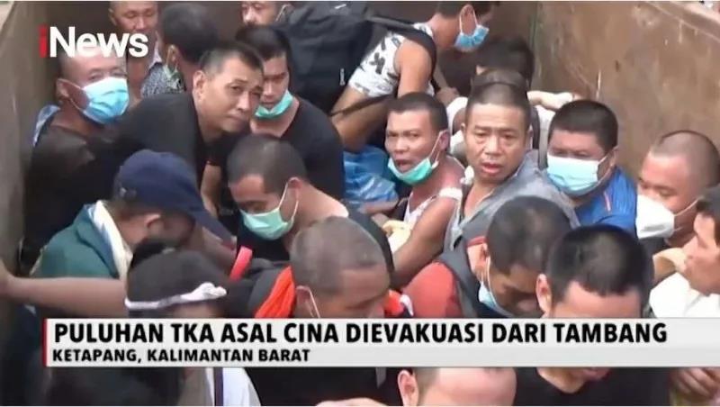 西加里曼丹省几百印尼当地人殴打中国金矿公司中方员工